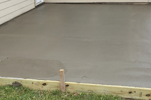 Patio Concrete Slab